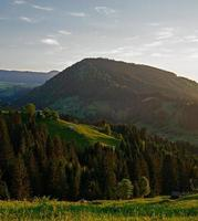 Ukrainian Carpathians. Evening mountains