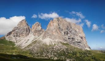 Panorama of Sassolungo mountain peaks photo