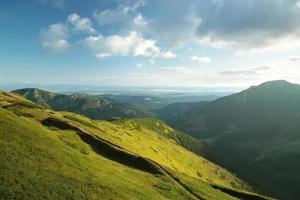 Tatras polacos al amanecer