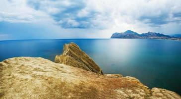 mountain and sea photo