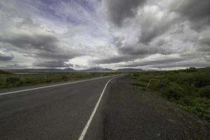 Road and mountains photo