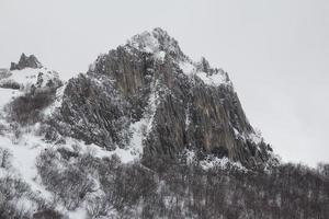 High mountain with snow photo
