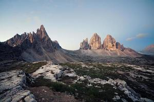 Tre Cime at sunrise photo