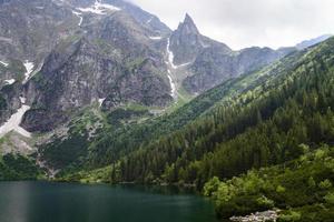 lago morskie oko, montañas tatra foto