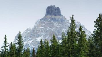 Snowy mountain in Glacier National Park, British Columbia, Canada