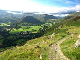 Easedale and Grasmere from Nab Scar photo