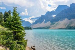 Bow Lake, Montañas Rocosas canadienses foto