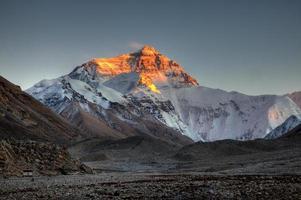 Mt Everest last light photo