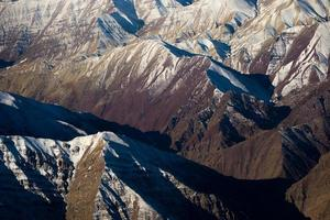 snow capped mountain range