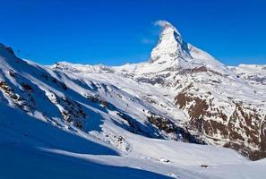Matterhorn peak Alp Switzerland photo