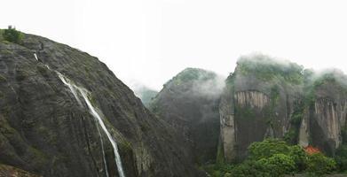 cascada en la cima de la montaña en china
