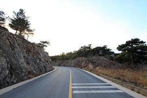 highway curve in mountain area