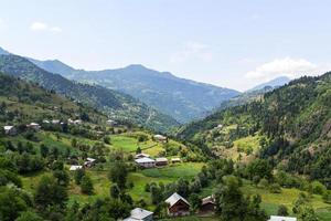 verloren dorp in de bergen