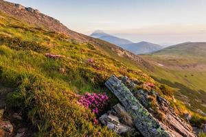 Mountain range during dawn.