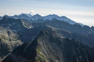 Ridge in the mountains photo