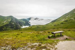 Bench in the mountains