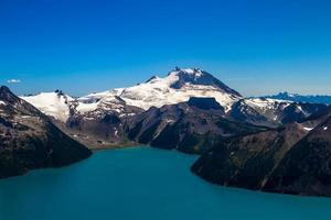 Snow-Capped Mountains and Lake in British Columbia, Canada