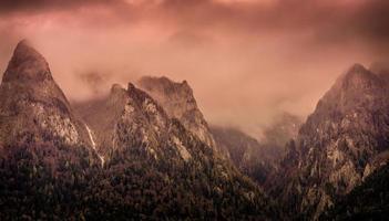 Peaks in fog photo