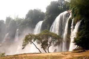 Ban Gioc waterfall in Vietnam. photo