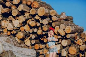 Stylish beautiful little girl photo