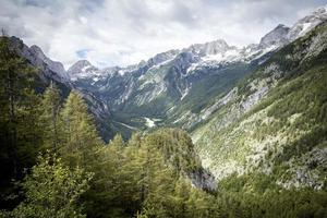 View from Vrsic pass in Julian Alps, Slovenia