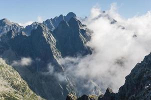 Clouds in the mountains photo