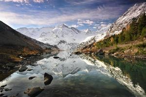 reflejo en un lago de montaña foto