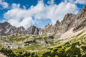 National Park panorama and Dolomiti mountains in Cortina d'Ampez