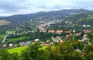 Top view on Banska Stiavnica (Slovakia) photo