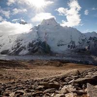 Beautiful landscape of Himalayas mountains photo