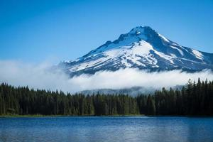 Mt. Hood, mountain lake, Oregon photo