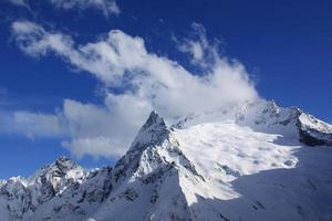 Caucasus, mountains and blue sky