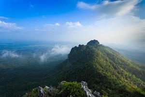 Beautiful mountain under blue sky photo