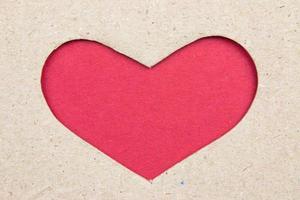 Cardboard hearts do photo