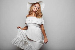 Portrait of beautiful blond woman photo