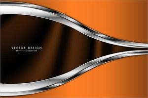 Metallic orange and silver curved design