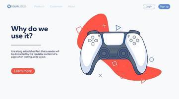 Gamer Landing Page vector