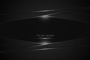 Paneles metálicos negros con fibra de carbono vector