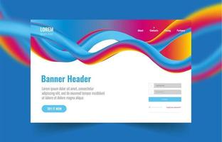 Abstract Multi Color Landing, Login Page