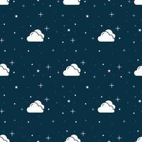 Seamless blue night sky pattern