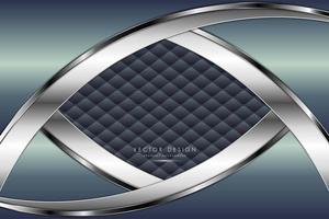 diseño de metal azul y plateado con textura de tapicería