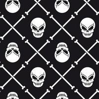 Skull and crossbones pattern vector