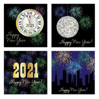 2021 happy new year graphic set
