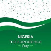 Nigeria Independence Day Green Flag Banner