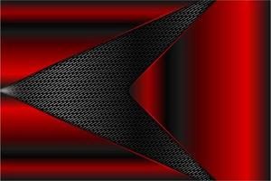 Red metallic panels over gray arrow grate texture vector