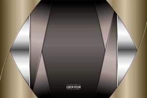 Diseño metálico marrón y dorado con copyspace. vector