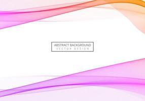 Elegant colorful flowing wave design vector
