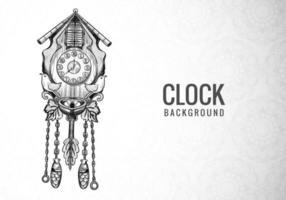 Dibujar a mano diseño de boceto de reloj decorativo