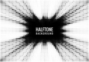 Black and white halftone rays texture vector