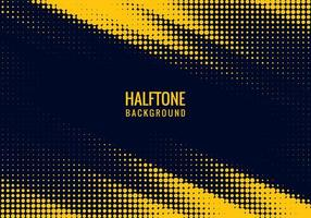 Angled yellow and blue halftone design vector